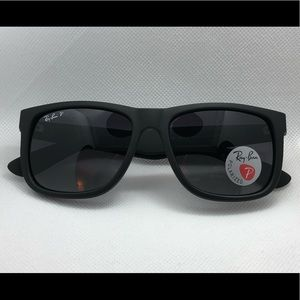 Ray-Ban Justin Classic RB4165 Black POLARIZED New!